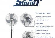 Cirkulační ventilátor STURM3, průměr 45cm, 3v1 - NOVINKA!