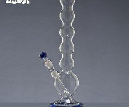 Skleněný bong Boost Bubble, průhledný, výška 47 cm, průměr 45 mm