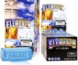 Rolovací papírky ELEMENTS SLIM, 5m + plast holder, box 10ks