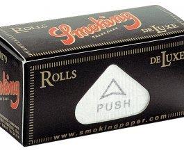 Rolovací papírky SMOKING DE LUXE ROLLS, 4m v balení
