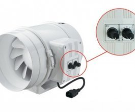 Ventilátor s termostatem TT 315 PRO U, 1760/2350m3/h