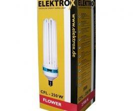 Úsporná CFL lampa ELEKTROX 250W, na květ